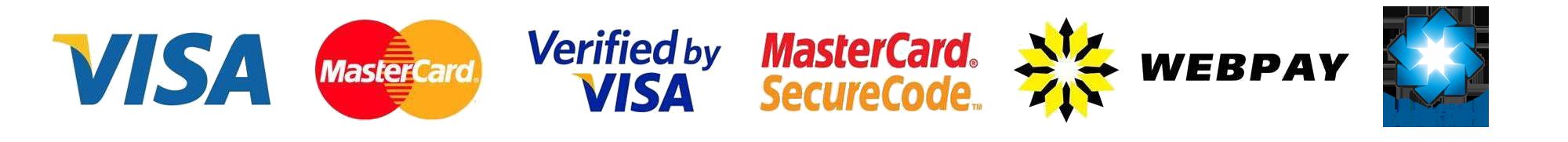 логотипы WEBPAY, VISA, MASTERCARD